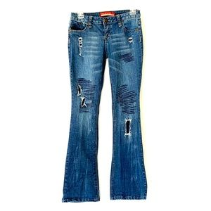 Zane Di Jeans Sz 7 or Adult size 2. Patched Denim.